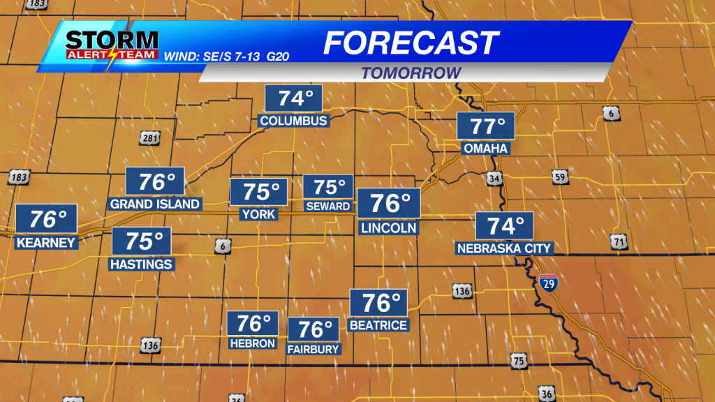Continued chance for rain; Increased chance for warmer, more humid weather