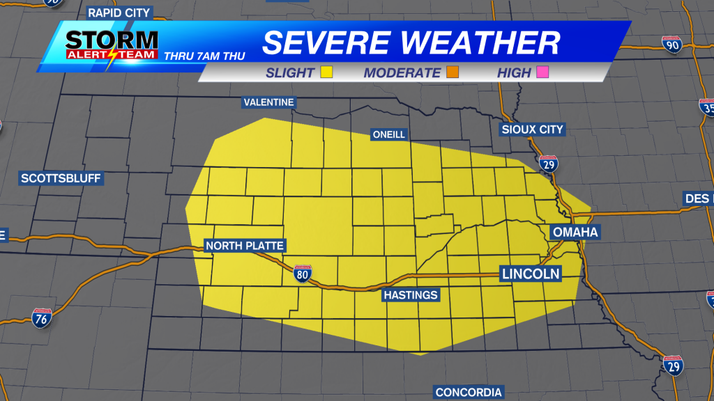 Strong storms possible in Nebraska through Thursday ...