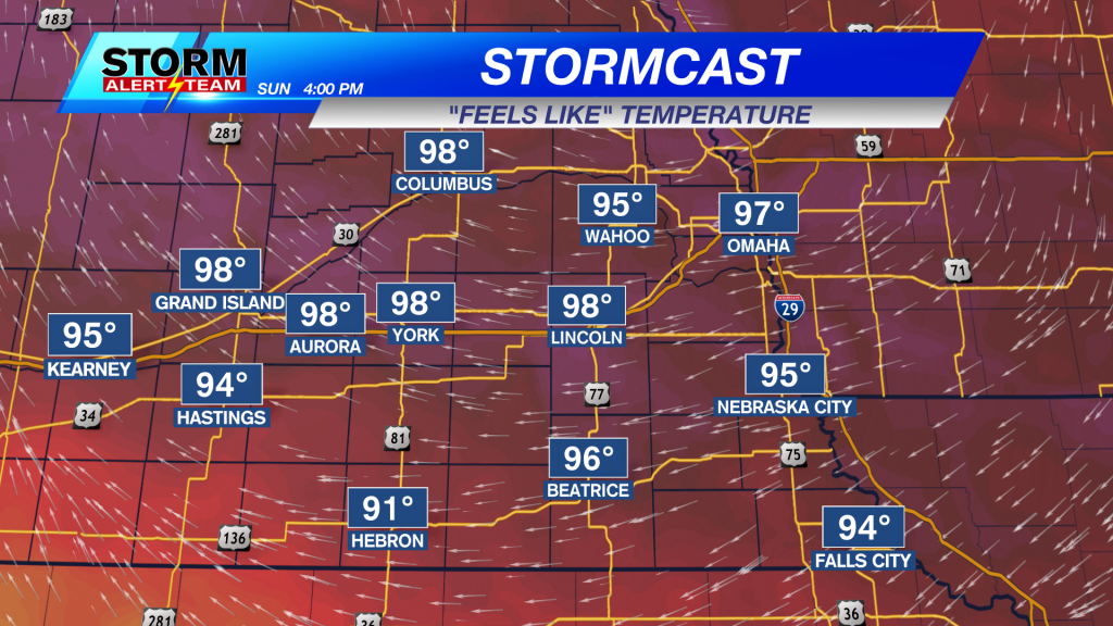 Sunday Afternoon Heat Index