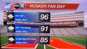 Husker Fan Day Forecast