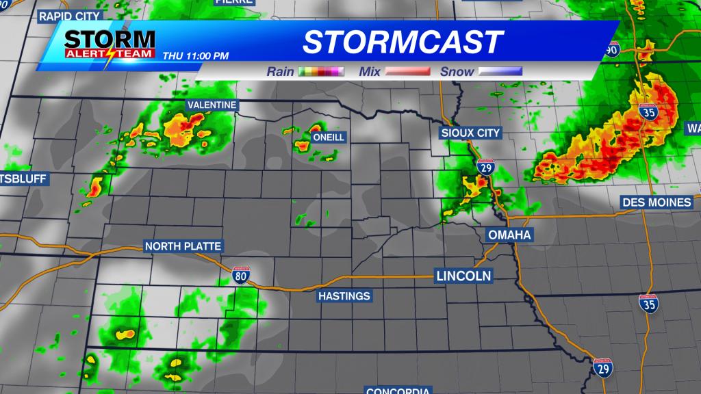 Stormcast Thursday Evening