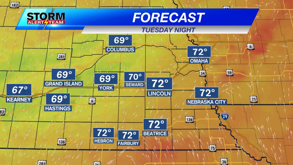 Tuesday Night Forecast