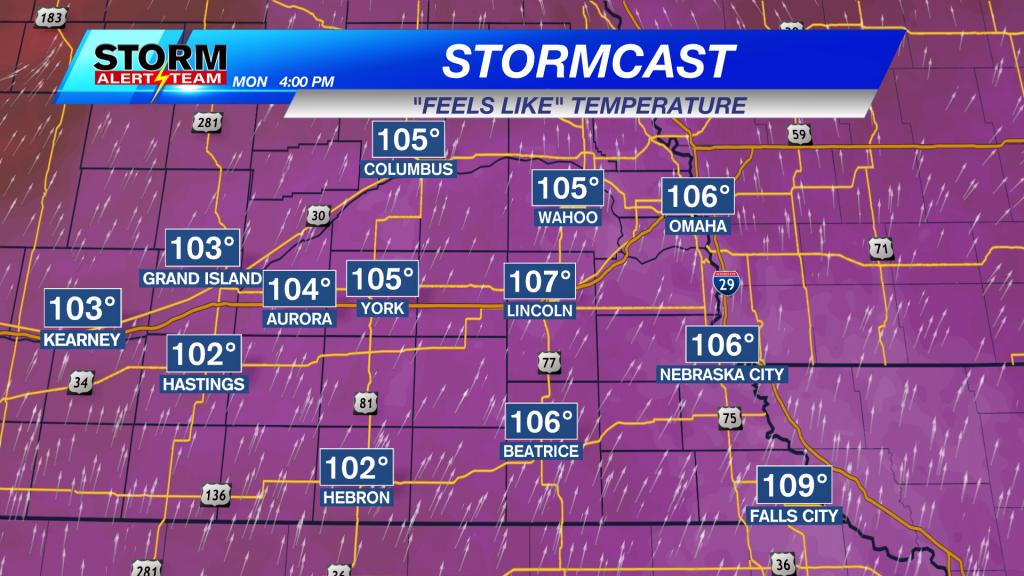 Heat Index Monday Afternoon