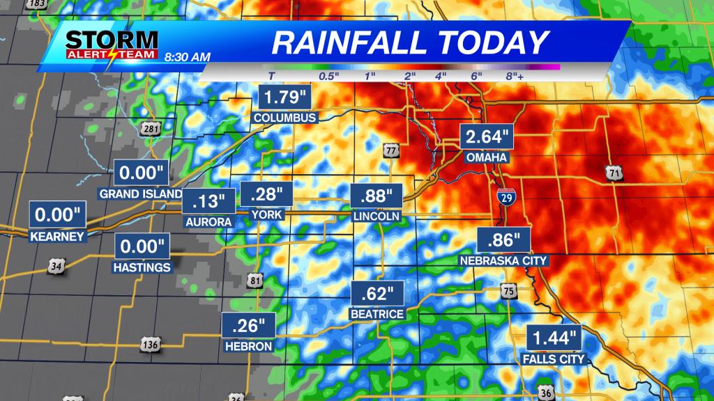 Tuesday Morning Rainfall