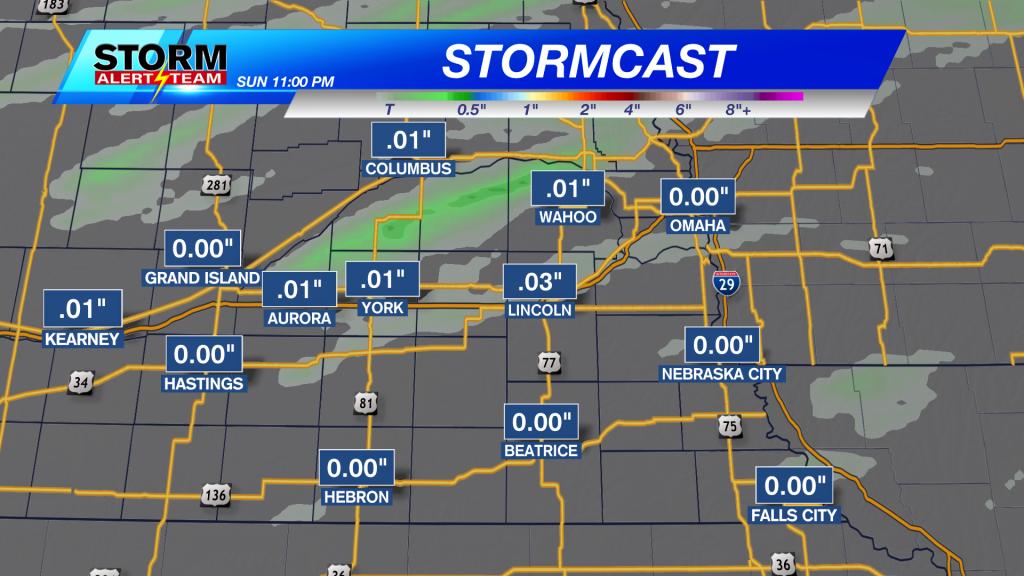 Stormcast Precipitation Accumulation Through Sunday Night