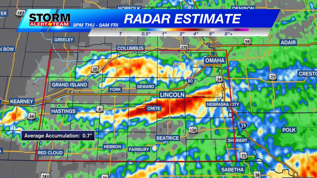 12-Hour Radar Estimated Precipitation Accumulation