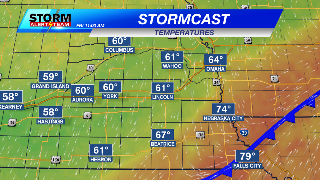 Stormcast Temperatures Friday Afternoon