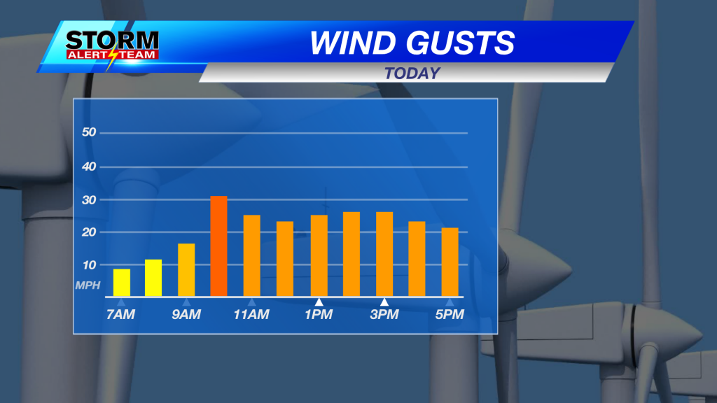 Next Day Wind Graph Lincoln Flexible Time