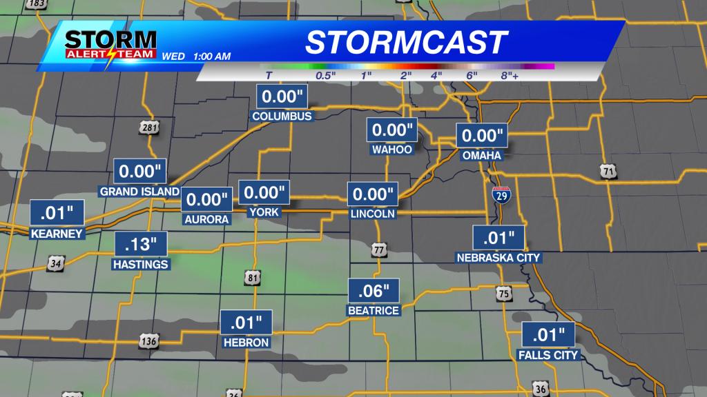 Stormcast Precipitation Accumulation Through Tuesday Night