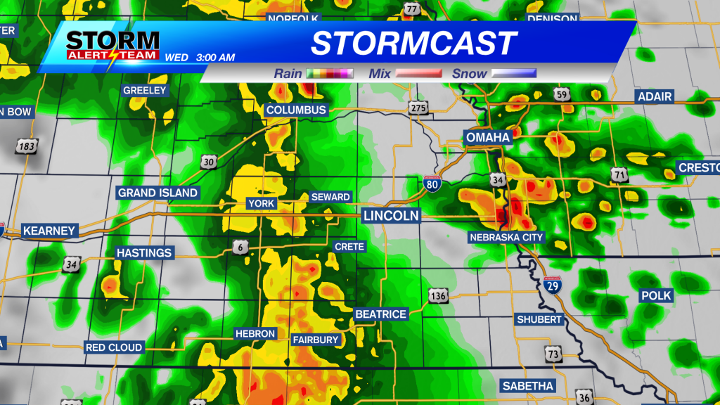 Stormcast Overnight Tuesday